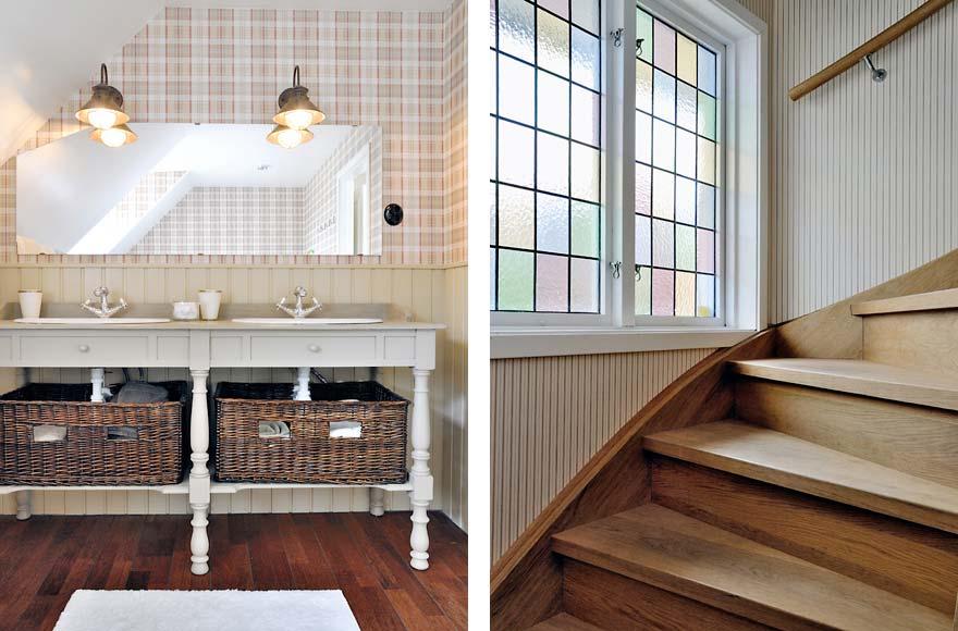 Badrum iäldre stil, paneler, kakel och kommoder Välkommen till Magasinet i Sankt Anna